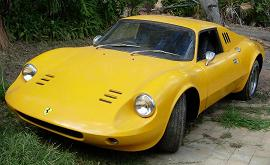 What's yellow, sounds incredible and looks like a million bucks? Yep, a replica Ferrari Dino!